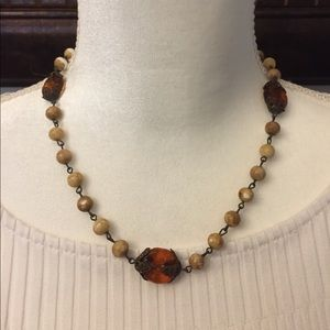 Gorgeous beaded necklace, antique style, NWOT